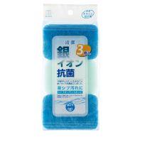 KOKUBO Губки для кухни с йонами серебра, антибактериальные, жесткая, 250*115*35 мм, 3 шт (А)