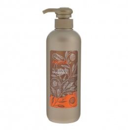 MUKUNGHWA Шампунь для питания поврежденных волос с маслом арганы, алоэ, эвкалиптом и шелковой эссенцией, флакон, 550мл.