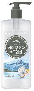 LION Средство для мытья посуды Chamgreen с содой и лимонной кислотой, флакон, 600 гр (А)