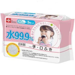 LEC Детские влажные салфетки для лица и рук розовая пачка *80шт.